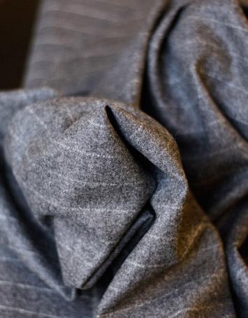 Flanella gessato grigio