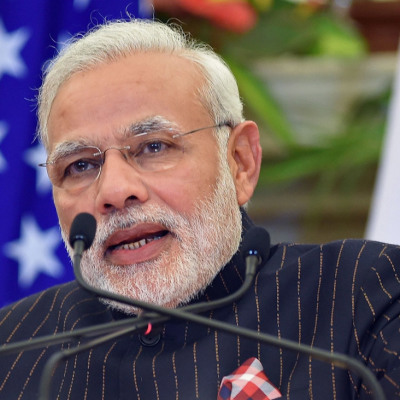 L'abito del premier Indiano Modi